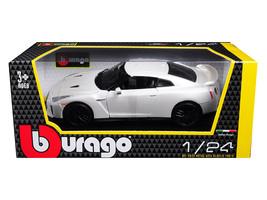 2017 Nissan GT-R R35 White 1/24 Diecast Car Model by BBurago - $32.37