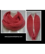 "Winter Scarf Strawberry Pink NWT Women's Sz Adult 27"" Infinity Style Fre... - $9.99"