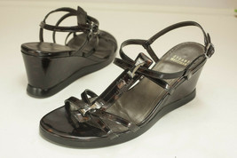 Stuart Weitzman US 9 M Brown Tortoise Shell Dress Sandals Women's - $56.00