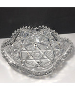 VINTAGE CRYSTAL CUT GLASS serving dish glassware candy bowl ash tray art... - $49.45