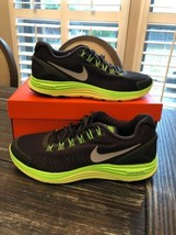 Nike LunarGlide+ 4 OG Black&Lime Green! #531986-303 Size 10 Vintage Nike... - $108.90