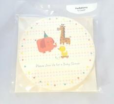 Girl Boy Baby Shower Invitations Envelopes 10 pack Elephant Giraffe Duck Circle - $4.74