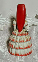 VINTAGE BELL FLAMBRO PORCELAIN BISQUE SPANISH FLAMENCO DANCER WOMAN BELL image 4