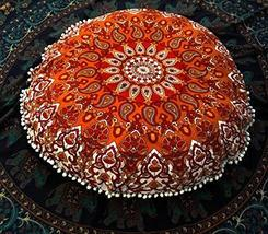 "Traditional Jaipur Star Mandala Floor Cushions, Decorative Throw Pillowcases 32"" - $19.79"