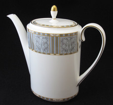 Wedgwood Corinth Coffee Pot and Lid Leaf Block on Gray Marble Background... - $59.99