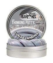 "Crazy Aaron's Thinking Putty 4"" Tin - Lunar Landing - Glow-in-The-Dark, Limited"