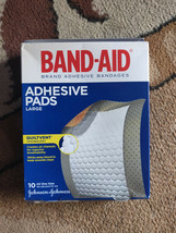 (qty-5) Band-Aid First aid Pads: adhesive pads: 10 piece - $24.93