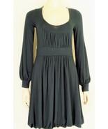 Vertigo Paris dress S NWT black bubble hem low cut sexy back stretch LBD... - $49.49