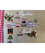 25 Decembre christmas cross stitch chart Lilli Violette - $12.60