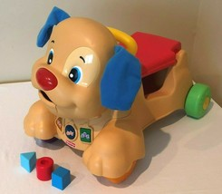Fisher Price Laugh and Learn Stride to Ride Puppy Dog Walker Ride On Sha... - $34.99