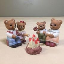 HOMCO Set of 3 Campfire Bears 1446 Vtg Teddy Bear Figurines - $9.89