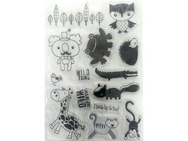 Wild Thing Clear Stamp Set, Includes Animals and Sentiments