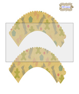 CupCake Wrapper1-Digital Clipart-Holiday-Gift Tag-Party-Digital Paper-Sc... - $2.00