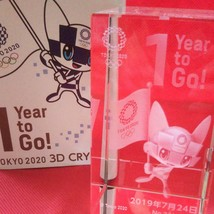3D Crystal Miraitowa Tokyo 2020 Olympic mascot - $546.48