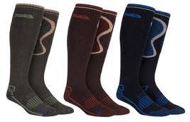 Storm Bloc - Mens Extra Long Knee High Wool Blend Winter Warm Walking Boot Socks - $19.64