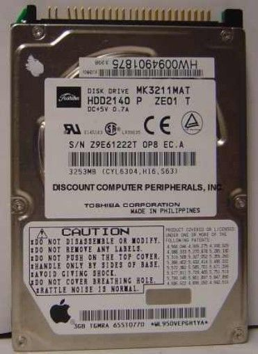 Toshiba MK3211MAT HDD2140 3.2GB 2.5IN IDE Drive Tested Good Free USA Ship