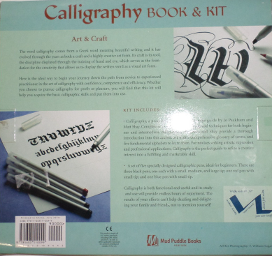 Calligraphy Book Pen Kit 2010 beginner letter art handwriting alphabet
