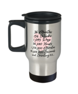 3rd Anniversary Travel Mug for him or her 3 Year and Counting Anniversary  - £14.48 GBP