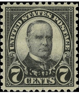"1929 7c William McKinley ""Kansas Overprint"" Scott 665 Mint F/VF NH - $50.00"