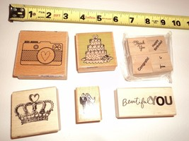 Lot Wedding Prom Cake Camera Rubber Stamps Stamp Card Making Art Scrapbook - $11.34