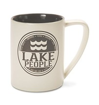 Pavilion Gift Company 67002 Lake People Ceramic Mug, 18 oz, Multicolored - $17.16