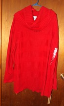 DKNY Jeans Red Cowl Neck Long Sleeve Sweater - Size 26/28 - $37.99