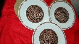 CORELLE BATIK PATTERN LUNCH PLATES 8.5 INCH x 3 BRAND NEW FREE USA SHIPPING - $42.06