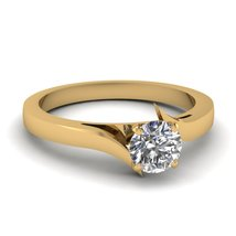 1.00Ct Round Cut White Diamond Womens Solitaire Engagement Ring Solid 925 Silver - $149.99