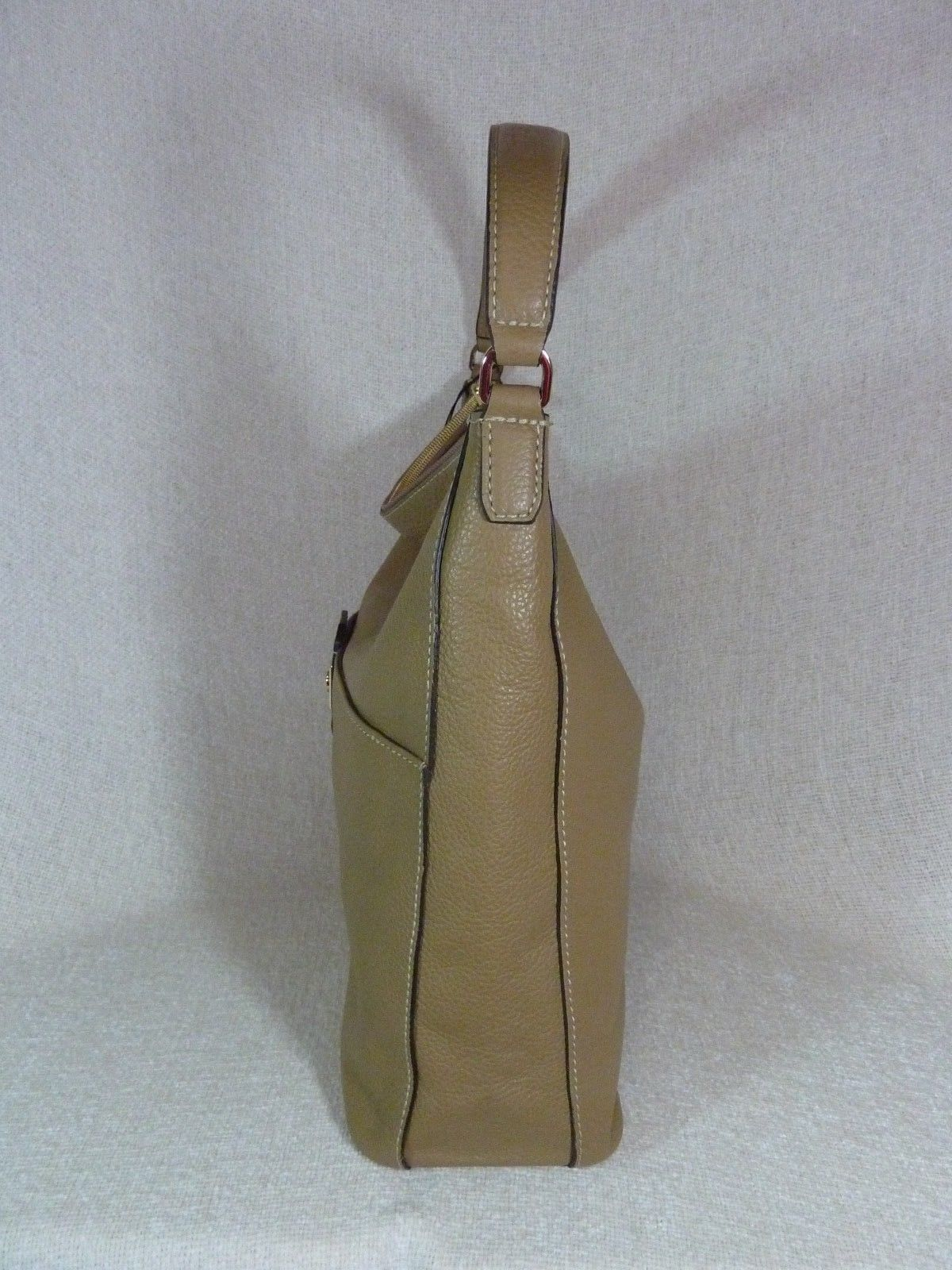 NWT Furla Cappuccino Pebbled Leather Jo Vertical Tote Bag image 7