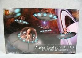 Pegasus Alpha Centauri Ufo's Alien Short Range Saucers Sealed Model Kit New! - $29.69