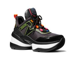 Michael Kors MK Women's Olympia Trainer Scuba Dad Sneaker Shoes Black