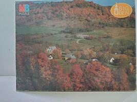 "Vintage MB Big Ben 1000 Piece Jigsaw Puzzle ""East Orange, Vermont"" - $14.01"
