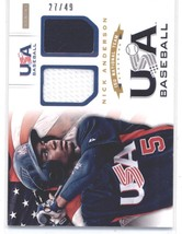 2012 Panini USA Baseball 15U National Team Dual Jersey #2 Nick Anderson NM-MT (M - $30.00