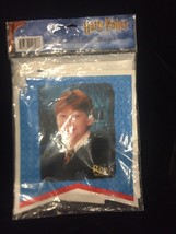 Harry Potter Happy Birthday Character Faces Blue Plastic Banner NEW! VHTF - $46.71