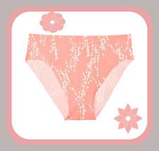 M Coral Floral Vines Victorias Secret Smooth Edge No Show High-leg Cheek... - $10.99