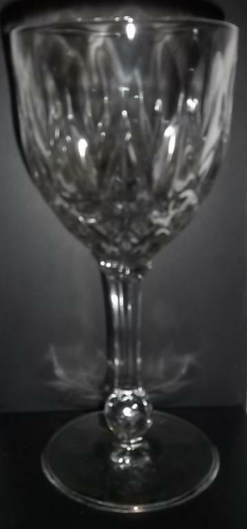 "Primary image for 6"" Clear Wine Glass Goblet with Faceted Ball Stem"