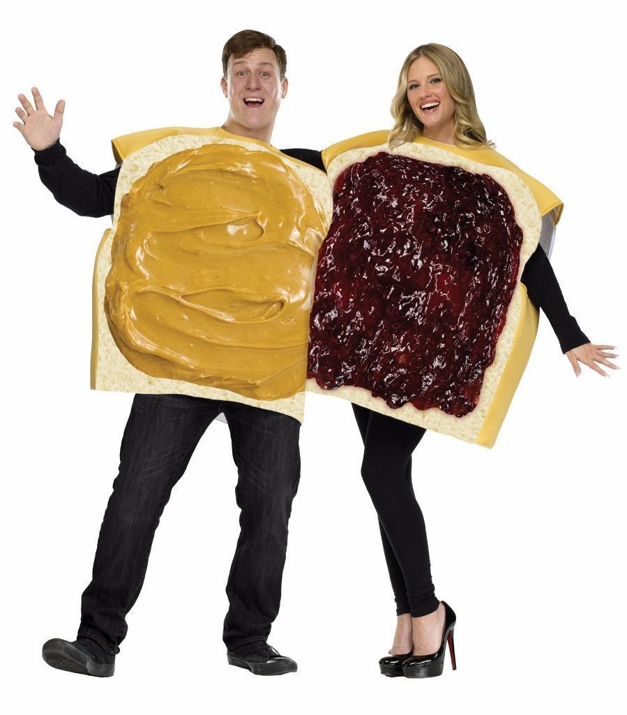 Peanut Butter Jelly Sandwich Couples Costume Food Halloween Party FW130924