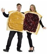 Peanut Butter Jelly Sandwich Couples Costume Food Halloween Party FW130924 - $77.61 CAD