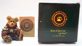 """Boyds Bearstone Collection EDDIE PROUD TO BE A BEARMERICAN 3"""" FIGURINE N... - $19.80"""