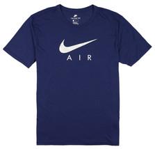 NIKE Tri-Blend Air Hybrid Logo T-Shirt sz M Medium Navy Blue Silver AM97 97 - $24.49