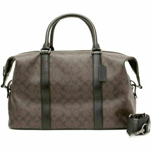 New! Brown/Black/Black Coach Duffle Voyager Bag In Signature Canvas F54776 - $474.89