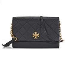 Tory Burch Georgia Black Leather Cross Body Ladies Bag 41709 - $329.00