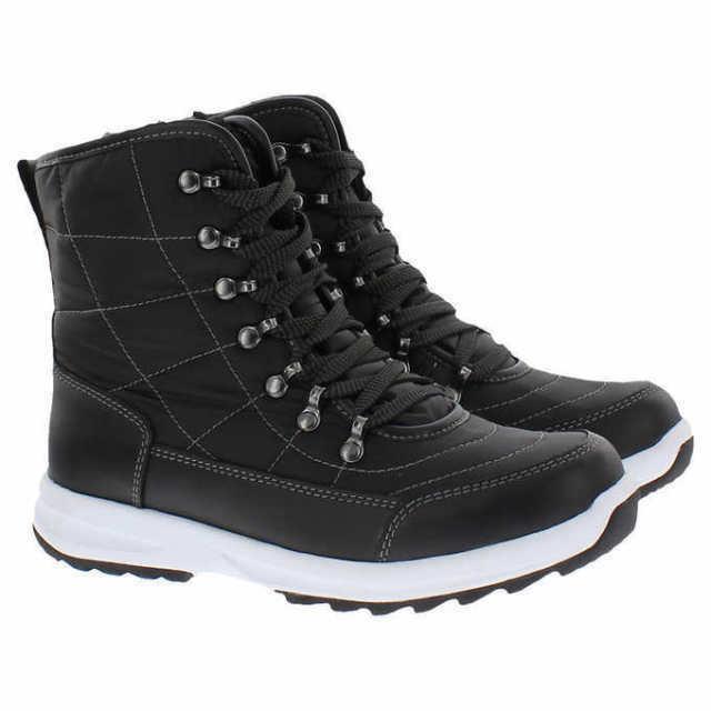 NEW Weatherproof Womens BLK/GRY Water Repellent Katie Winter Sneaker Ankle Boots