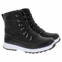NEW Weatherproof Womens BLK/GRY Water Repellent Katie Winter Sneaker Ankle Boots