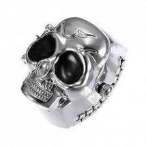 Fashion Silver Skull Shape Finger Ring Watch Adjustable   - $10.00