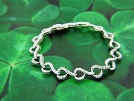 Alternate Design White Diamond Simply Classic Tennis Bracelet In Solid 1... - $999.99