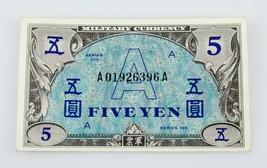 Japon Allied Militaire Currency (1946) 5 Yen Note P#68 Au État - $145.52