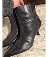 WHITE MOUNTAIN ANKLE BOOTS HEEL BOOTS ZIP BLACK WOMENS Size  7 - $14.86