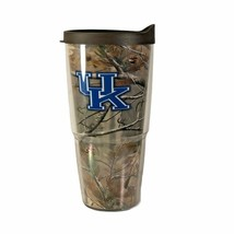 Tervis Real Tree Camo 24OZ Tumbler UK University of Kentucky Travel W/ B... - $14.84