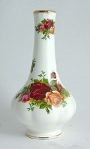"ROYAL ALBERT ""OLD COUNTRY ROSES"" Bud Vase FLORAL/Multi Bone China 22K GO... - $64.80"